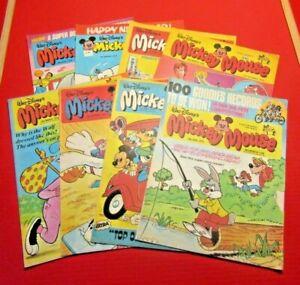 Walt Disney's Mickey Mouse 8 comics From 1978 Bundle Lot 8