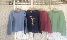 Four Girls Age 10 - 11 JOHN LEWIS Long Sleeve 100% Cotton Pink Green Blue Tops