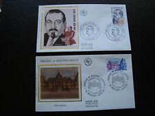 FRANCE - 2 enveloppes 1er jour 1979 (leon jouhaux/chat maison laf) (cy78) french