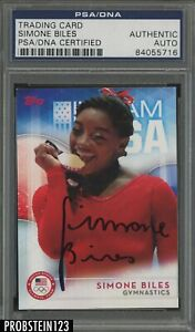 2016 TOPPS TEAM USA SIMONE BILES SIGNED ROOKIE CARD PSA DNA CERTIFIED AUTOGRAPH