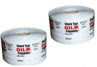 2 Roll of 500 Total 1000 Stickers Oil Change Reminder Sticker