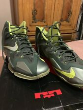 nike lebron X1 Size 14 In Good Condition Multi Colors  Military Olive Neon Yell