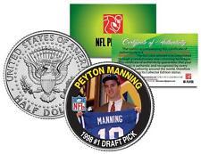 PEYTON MANNING *1998 #1 Draft Pick* Colorized JFK Half Dollar US Coin *LICENSED*
