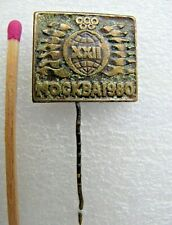 Vintage Badge Pin Olympic Games Moscow 1980,sign USSR