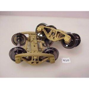 BRASS O American Scale Models Archbar Leaf-Sprung Trucks #406-1