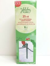 """25 Ct 7 1/2"""" Universal String Outdoor Ground Light Stakes Xmas Holiday Decor New"""