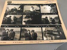 FRANCIS BLANCHE et HENRI SALVADOR : PLANCHE CONTACT ORIGINALE DE 1965