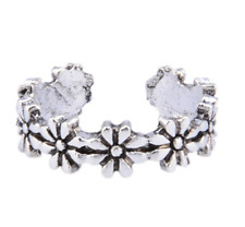 Womens Toe Rings Small Finger Ring Band Silver Plated Adjustable Jewellery 6#
