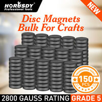 150 Round Magnets Ceramic Disc Strong Craft Flat Circle Thick Fridge Whiteboard
