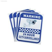 24 Hour CCTV Security Surveillance Adhesive Sticker Sign Warning Safety Decal
