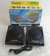 Vintage Panasonic Portable Travel Speakers RP-SP18A 3.5mm Jack/AUX for Walkman