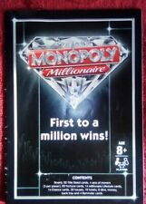 MONOPOLY MILLIONAIRE SPARES / PARTS, HASBRO 2012 - RULES / INSTRUCTION BOOKLET