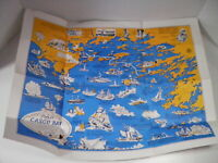 Map of Casco Bay Maine (Historical / Pictorial Map) Portland Edward Rowe Snow