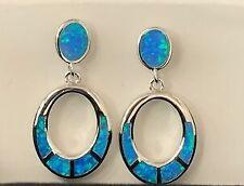 RARE Turquoise GEMSTONE 2250 Sterling Silver Fine Earrings