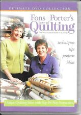 Fons & Porter'S Love Of Quilting Dvd Unique Quilting Ideas w/ Step-by-Step Instr