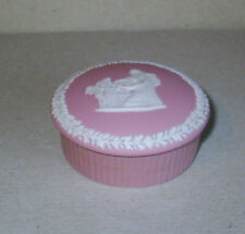 Wedgwood Jasperware Pink Small Cupids Mask Round Box