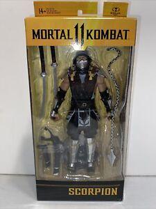 "McFarlane Mortal Kombat 11 SCORPION 7"" Action Figure SOME SHELF WEAR"