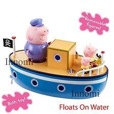 Peppa Pig Grandpa Peppa George Bathtime Boat Floats On Water Playset Toy Set