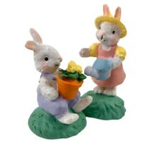 Midwest Of Cannon Falls Cottontail Lane Mommy & Baby Bunny Gardening Easter New