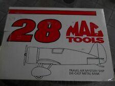 #28 Davey Allison Mac Tool, 1993 1/43 Revell airplane bank.