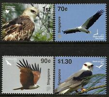Singapore 2016 Birds of Prey set of 4 MNH