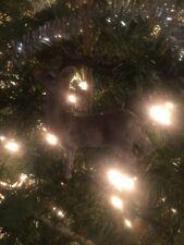 "Nice New Kurt Adler 4.25"" Natural Deer Christmas Ornament! Standing Straight!"