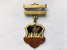 More details for 1937-38 vintage l.s.c.president silver&enamel pin brooch