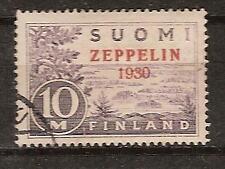 FINLAND # C1 Used ZEPPELIN FLIGHT AIRMAIL