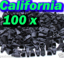 Lot 100 X RJ45 Connector CAT5 Modular End Cap Boot Head Plug CAT6 Cable CAT5E