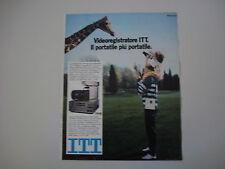 advertising Pubblicità 1983 VIDEOREGISTRATORE ITT