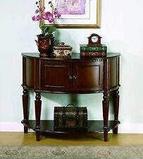 Traditional Wood Console Accent Table/Entry Way/Hall/Storage/2 Shelves/Sturdy