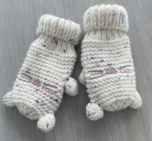 Baby GAP Girls Cat Mittens Gloves Pink Sz XS/S