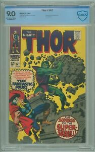 Thor # 142 CBCS 9.0 VF/NM Jack Kirby Super Skrull Cover 1967 Stan Lee