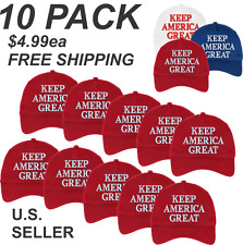 10 pack TRUMP KEEP AMERICA GREAT   - 5 PANEL $4.95ea. embroidered Hat/Cap *