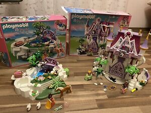 Playmobil Princess 5474 5475 Kristallschloss und verzauberter Kristallsee