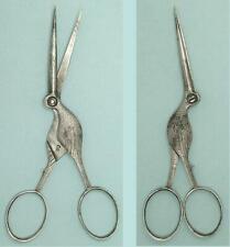 Antique Steel Stork Scissors * English * Circa 1890s