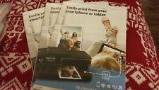 3X Genuine HP Brand Glossy Photo Paper 250 GSM (5 Sheets + 3 Envelopes) 13x18cm