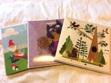 Cute Greeting Card Lot 3D Gnomes Cats Squirrels Pop Up Cards Lot 3 Cards B