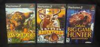 Cabela's Big Game Hunter, Outdoor, Dangerous PS2 PlayStation 2 3 Game Lot Works