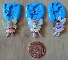 NEW SET OF 3 FLOWER FAIRY FAIRIES MOULD MOLD SUGARCRAFT FIMO POLYMER CLAY