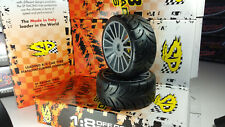 SP 1/8 Belted GT Tires mounted on Grey Rims 17mm -Hard- 2 per pack  GTB RT5g
