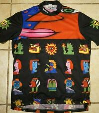 Vintage Sugoi Cycling Jersey Mens XL Half Zip Short Sleeve Tribal Art Work