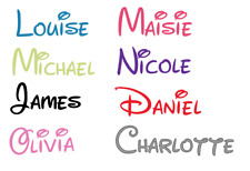 Personalised  Name  Stickers, Vinyl Decal, Disney Name Sticker