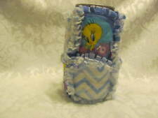 New Tweety Bird Blue and White Chevron Inspired 12oz Beer/Pop Can Cover/ Cozy /