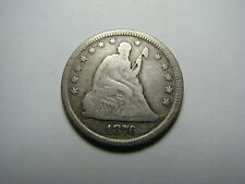 1876 Seated Liberty Quarter <> Silver