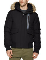 Royal Matrix Mens Down Filled Hooded Parka Jacket with Removable Faux Fur NWT