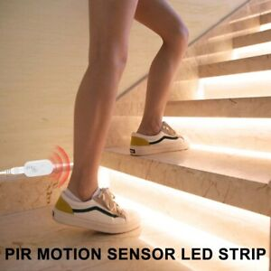 PIR LED Closet Light Tape Wireless Motion Sensor Lamp LED Strip Waterproof USB L