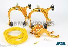 Dia-Compe MX883 - MX122 Gold Brake Set - Old School BMX Style Brakes