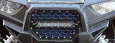 "Polaris RZR XP/XP4 1000/900 - Modquad Front Grill w/ 10"" Light Bar - Blue/Black"
