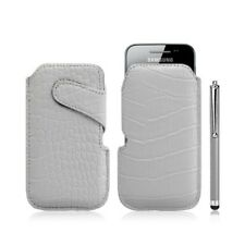 Housse coque étui pochette style croco pour Samsung Galaxy Ace S5830 + Stylet